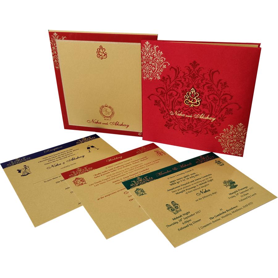 MC 6067 – Best Wedding Cards | 1000+ Wedding Invitation Collection ...