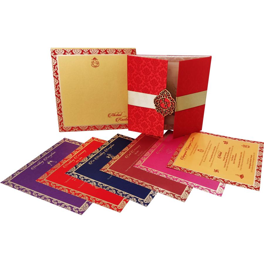 MC 6105 – Best Wedding Cards | 1000+ Wedding Invitation Collection ...